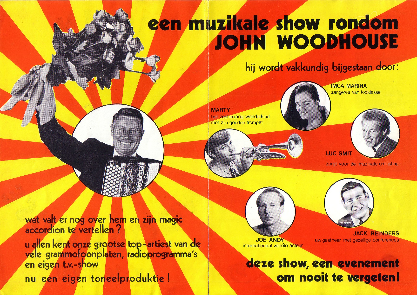 Showavond met John Woodhouse 1971