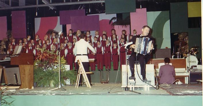 Optreden met John Woodhouse 1972