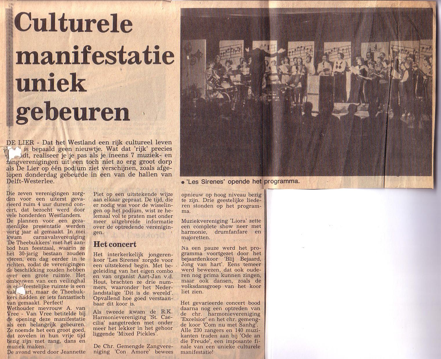 Culturele Manifestatie De Lier 1983