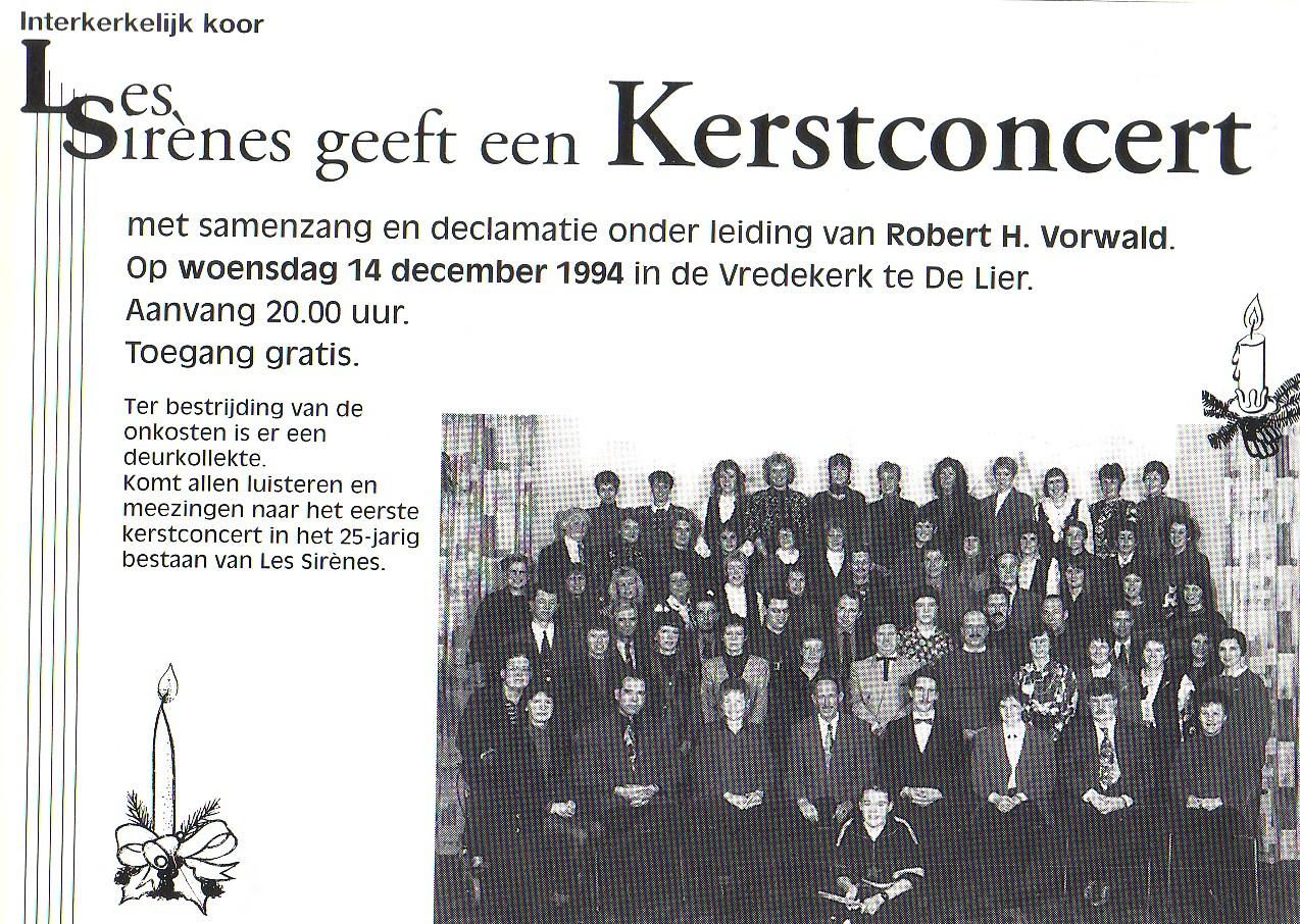 Eerste Kerstconcert Les Sirènes 1994